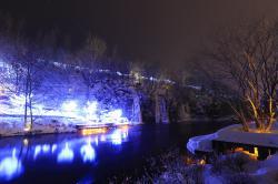 长白山冰雪小镇夜景,美轮美奂!!